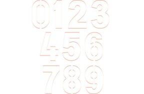 MAGNETIC NUMBER STENCILS